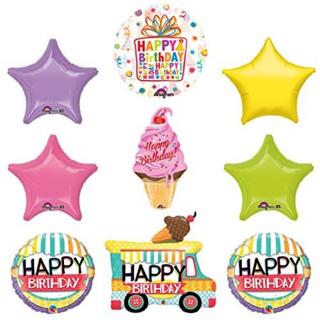 Ice Cream Cherry On Top Balloon Birthday Party Supplies Decorations (Ice Decorations)