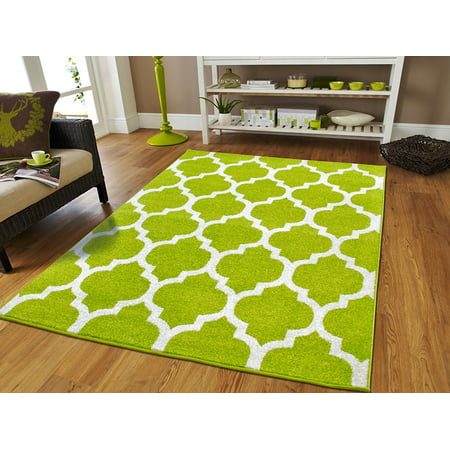 Large Modern Green Area Rug For Bedrooms Green Rugs8x11 Rugs For Living Room and Dining Area 8x10 Carpet - Rugs And Carpets