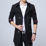 Mens Military Style Trench Coat