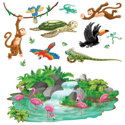 The Beistle Company Tropical Props Wall Decal