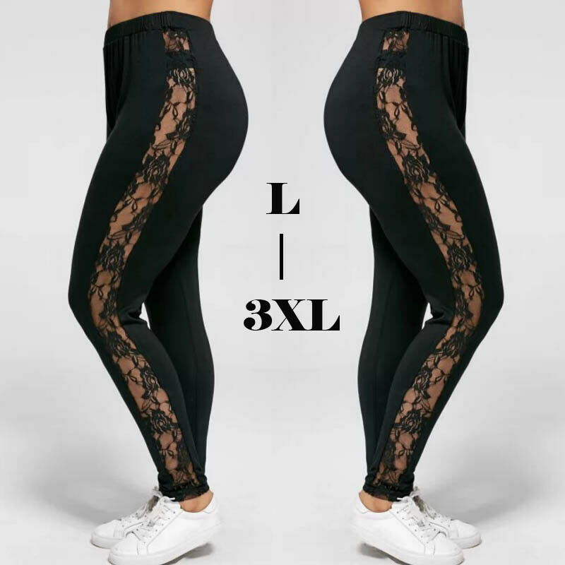 Check It Out Plus Black Stretch Leggings w// Zipper Accents New! XL 2XL 3XL