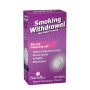 NatraBio Smoking Withdrawal Homeopathic Formula    May Temporarily Help w/ Tobacco & Cigarette Cravings, Irritability & Detox   60 Quick Dissolve Tabs
