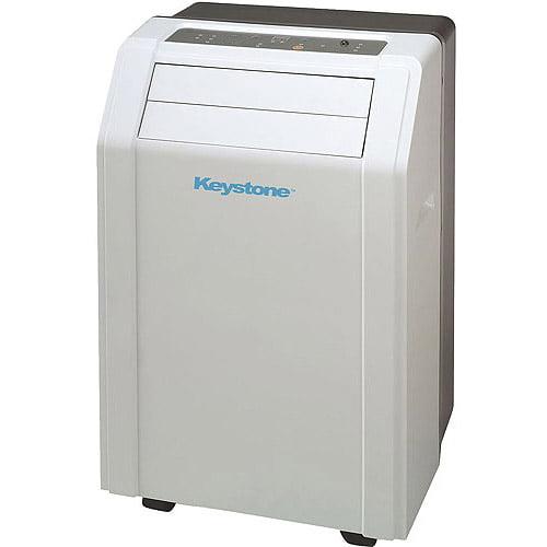 "Keystone KSTAP12A 12,000-BTU 115V Room Portable Air Conditioner with ""Follow Me"" LCD Remote Control"