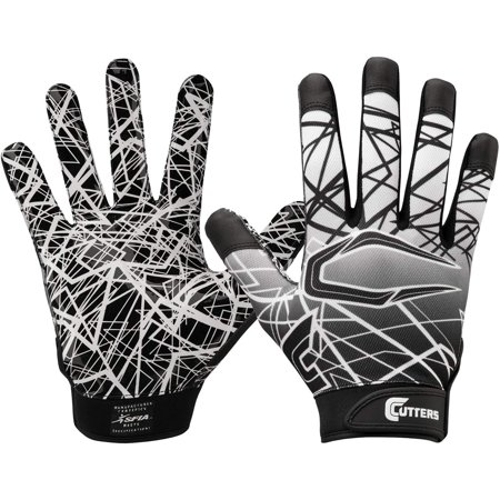 Cutters Game Day Receiver Youth Gloves Black - L