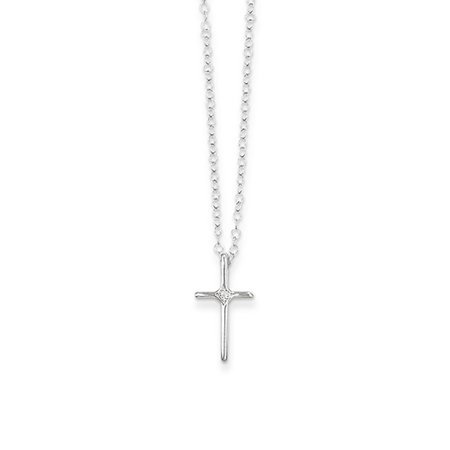 religious change inches by pave courtney chains van gemstone jewels necklace with in sterling silver s cross grande for color gifts her der muffins zircon muffin beads products pendant diamond