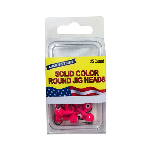 "Luck ""E"" Strike Jig Head, 1/8 oz, 25 Pack, Hot Pink"