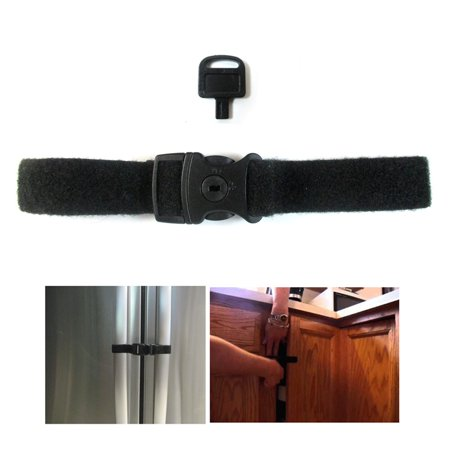 1 Pc Locking Strap Lock Key Fridge Guard Refrigerator Door Latch Baby Safety Kid