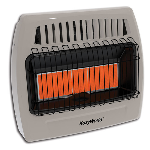 Kozy World 5 Plaque Propane Infrared Vent Free Wall Heater
