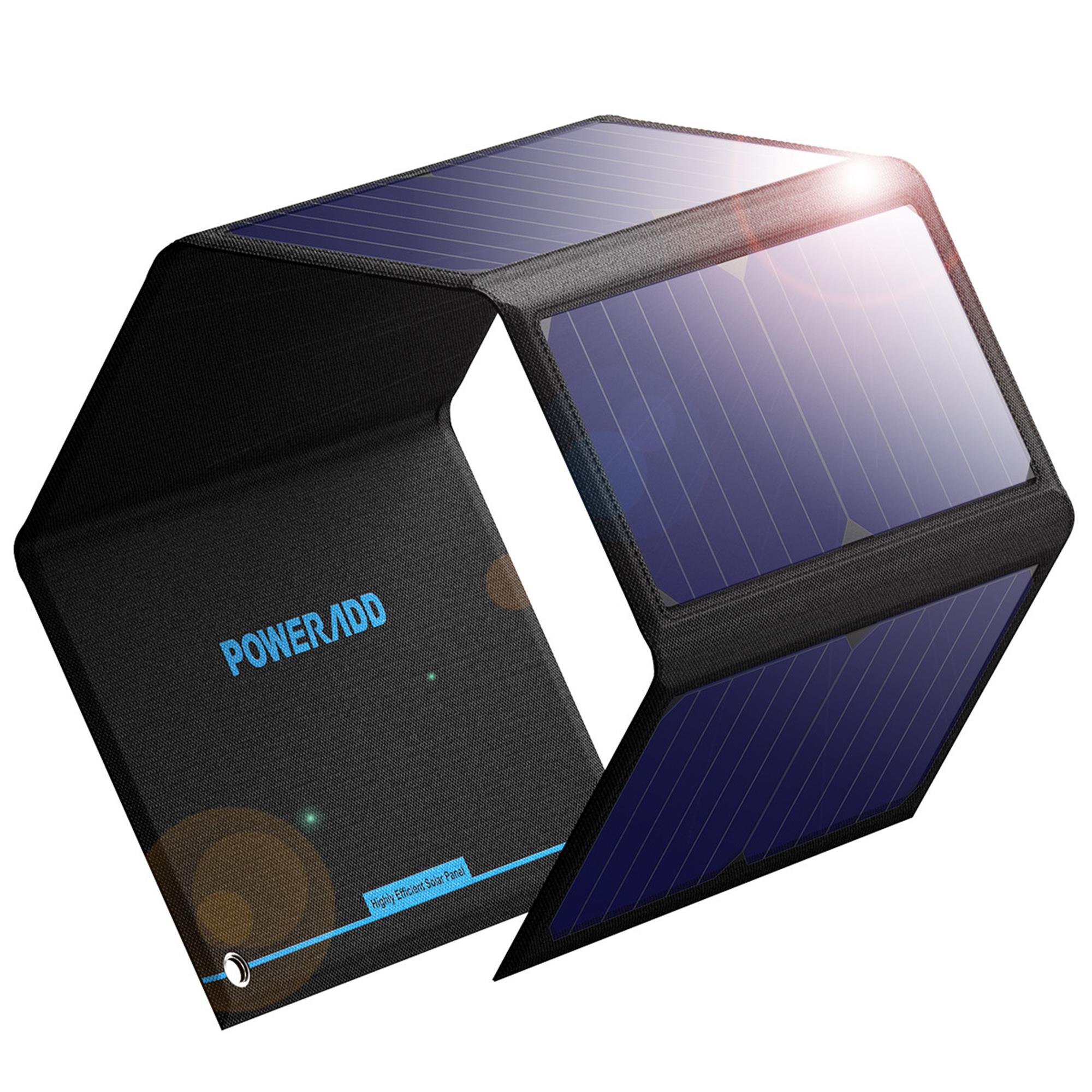 Best Solar Phone Chargers - Poweradd 24W Solar Power bank Flexible Waterproof Solar Review
