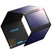 Best Solar Phone Chargers - Poweradd 24W Solar Power bank Flexible Waterproof Solar Review