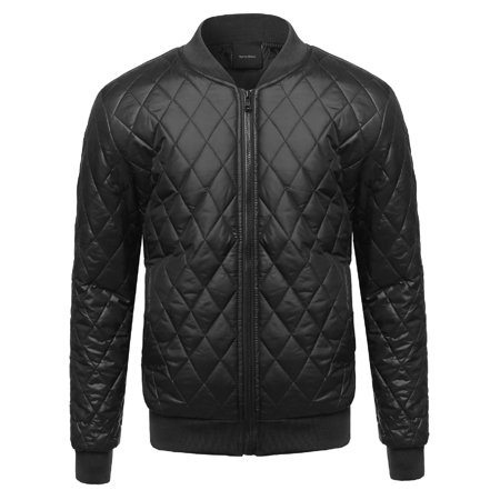 FashionOutfit Men's Classic Lightweight Quilted Padded Bomber
