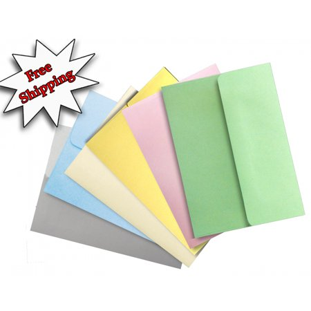 Envelope Wrapper - Shipped Free Pastel Color Selection 50 Boxed A2 Envelopes for Enclosures Cards Invitations Announcements from The Envelope Gallery