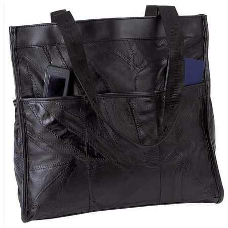 Italian StoneDesign Genuine Leather Shopping/Travel Bag
