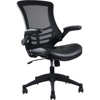 Techni Mobili Stylish Mid-Back Mesh Office Chair with Adjustable Arms, Black (RTA-8070-BK)