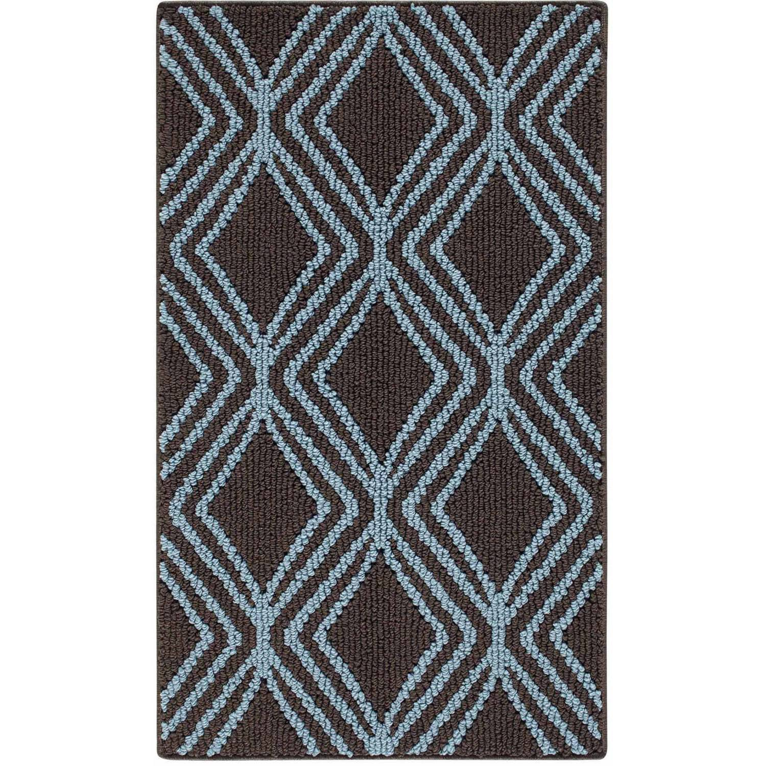 Mainstays Ms 20x34 Wickham Pool/brown Accent Rug