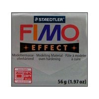 Fimo Effect Clay 56gm Metallic Silver