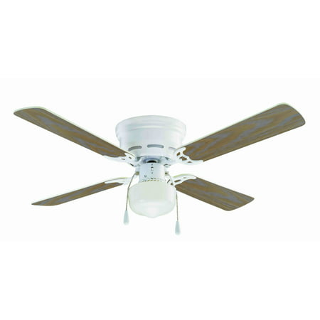 42 mainstays hugger indoor ceiling fan with light white walmart aloadofball Choice Image