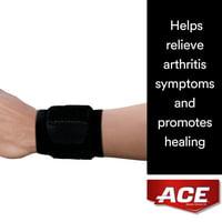 ACE Brand Wrap Around Wrist Support, Adjustable, Black, 1/Pack