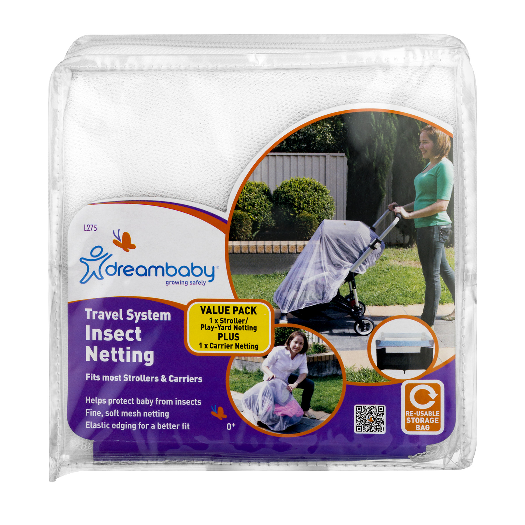 Click here to buy Dreambaby Travel System Insect Netting, 2 piece set by Dreambaby.