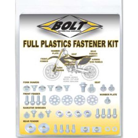 Fork Guards - Bolt MC Hardware 024-33614 Yamaha Style Plastic Fastener Pack - M6x1.0x14mm fork guard bolts