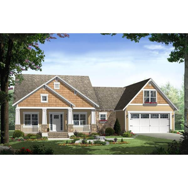 TheHouseDesigners-7139 Country House Plan with Crawl Space Foundation (5 Printed Sets)