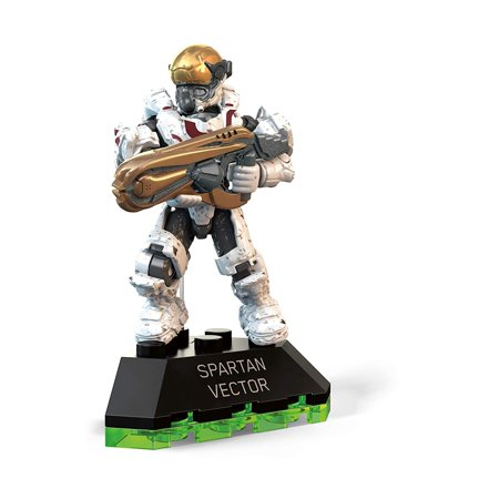 Halo Spartan Vector Building Set, Highly collectible, super-poseable Spartan micro action figure in vector armor By Mega