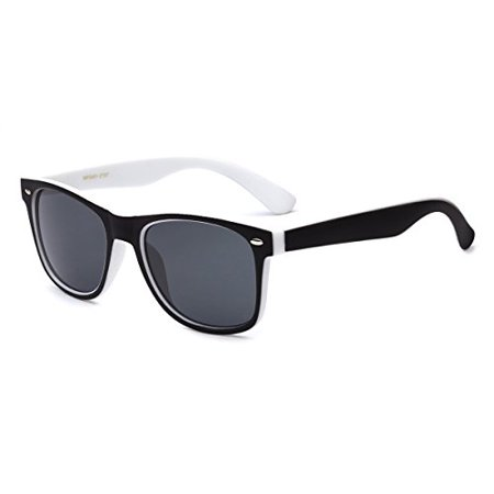 Frame Two Tone Wayfarer Sunglasses - Black & White](Orange Wayfarer)