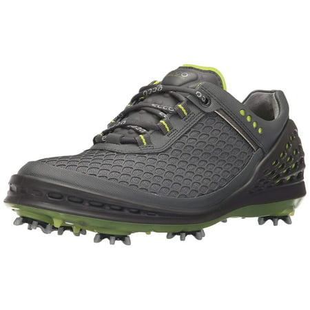 ECCO Men's Cage Sport Golf Shoe, Grey/Lime Punch, 40 EU/6-6.5 M US (Ecco Golf Shoes)