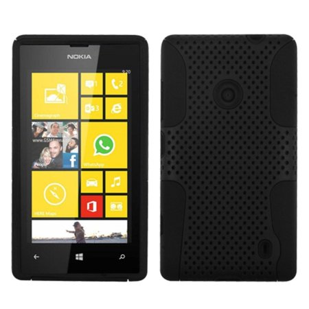 Insten Black/Black Astronoot Mesh Phone Hard Case Cover For NOKIA 520 Lumia