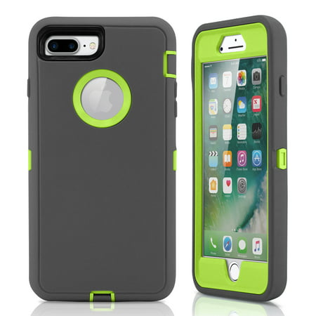 For iPhone 7 Plus Case Rugged Shockproof Hard Case Protective Cover (Iphone 4 Case Pistol)