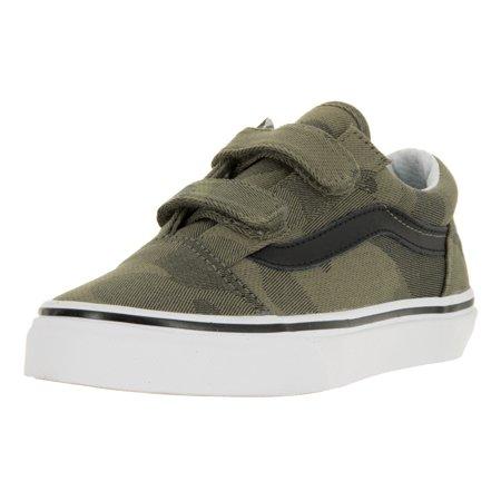 e2beefe0896dec Vans - Vans Kids Old Skool V (Camo Jacquard) Skate Shoe - Walmart.com