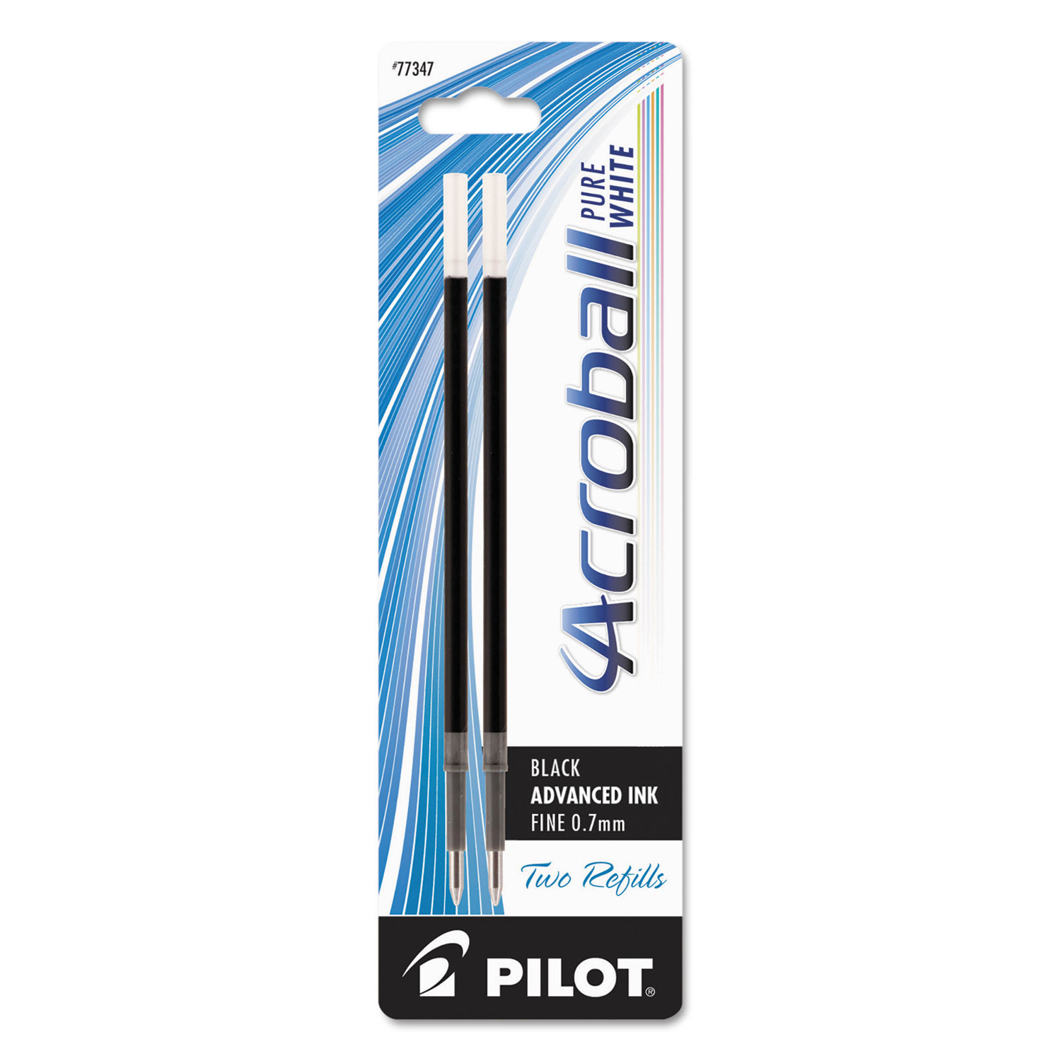 Pilot - Refills for Acroball Pens, Black, Fine - 2/Pack