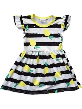 49c63156a050 Product Image Toddler Girl Kids Lemon Stripe School Holiday Birthday Party Girl  Dress Black 2T XS 501276 BNY. BNY Corner. Product TitleToddler ...