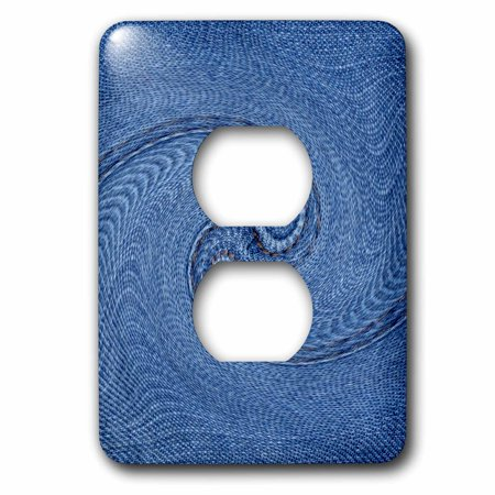 Fabric Outlet (3dRose Great Wave photo of denim fabric in shape of breaking wave - 2 Plug Outlet Cover )