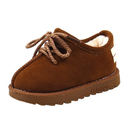 DZT1968 Children Warm Boys Girls Martin Sneaker Boots Kids Baby Casual Shoes