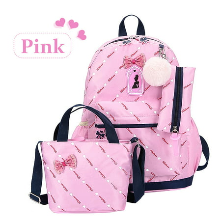 cd3661444cf Anyprize 3Pcs/Sets Pink Canvas School Backpacks for Girls, Large Capity  Scatchel Rucksack Backpacks for Middle School, Women's Fashion Sports and  ...