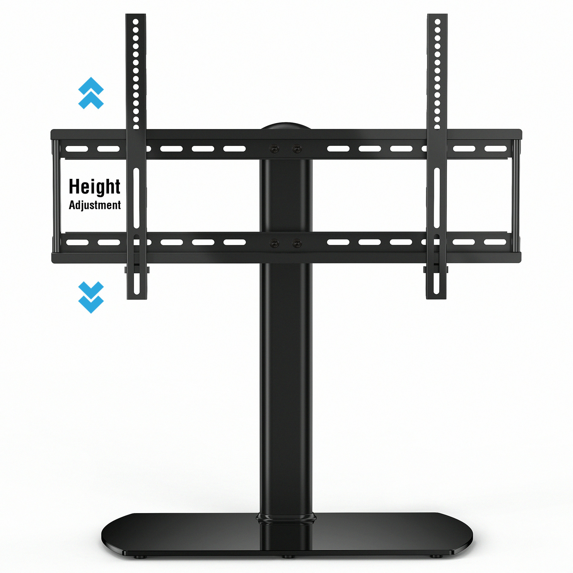FITUEYES Universal TV Stand/ Base Tabletop TV Stand with Wall Mount for 32 to 60 inch Flat screen Tvs/xbox One/tv Component Black(TT107001GB)