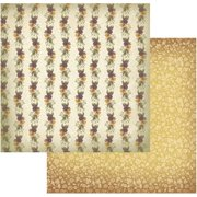 "Hearts Ease Double-Sided Paper 12""X12""-Pansies In A Line"