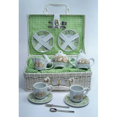 Delton Products Bunny Large Dollies Tea Set in Basket - Delton Products Halloween