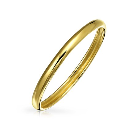 Minimalist Simple Thin Stackable Mid Finger Real 14K Yellow Gold Wedding Band Ring For Women 1MM