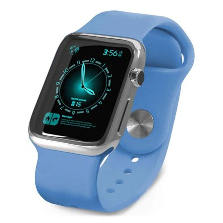 Tuff Luv I6-50 42 mm Silicone Wrist Watch Strap Band for Apple Watch Series 1, 2 Sport - Blue