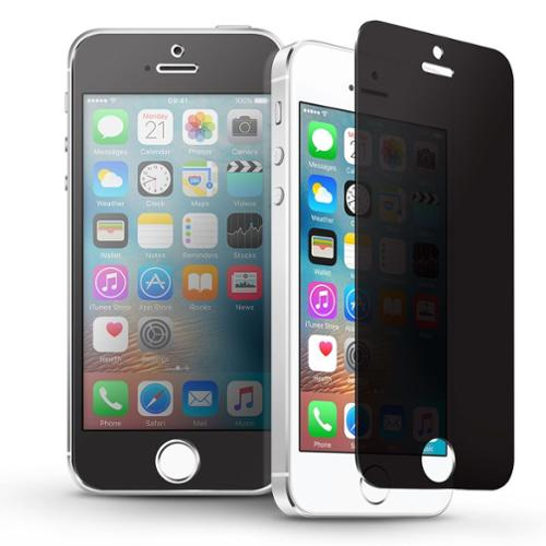 insten iPhone SE / 5 / 5S Privacy Anti-spy Real Tempered Glass Screen Protector Film