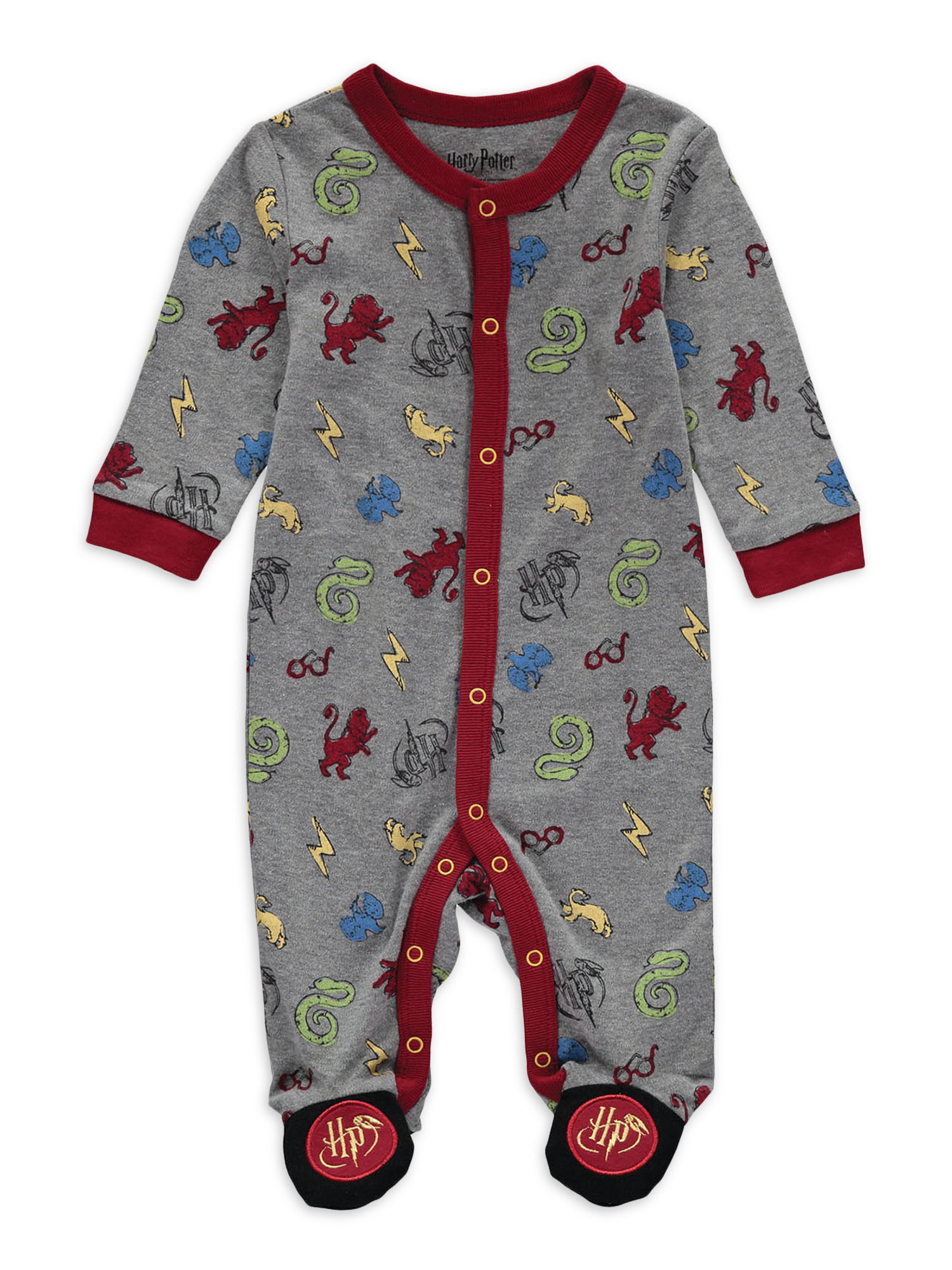 Harry Potter 2 Pack Costume Footed Sleep N Play Coveralls