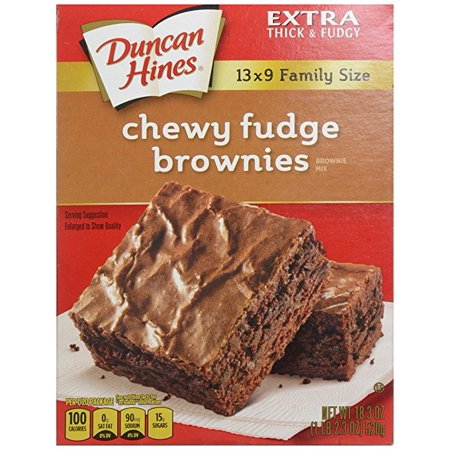 Chewy Fudge (Duncan Hines Brownie Mix, Chewy Fudge, 18.3 oz )