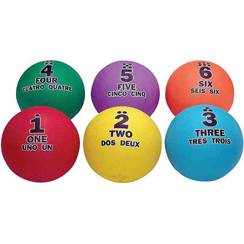 "SportimeMax Utility Sequencing Multi-Lingual Balls, 8.5"", Set of 6"