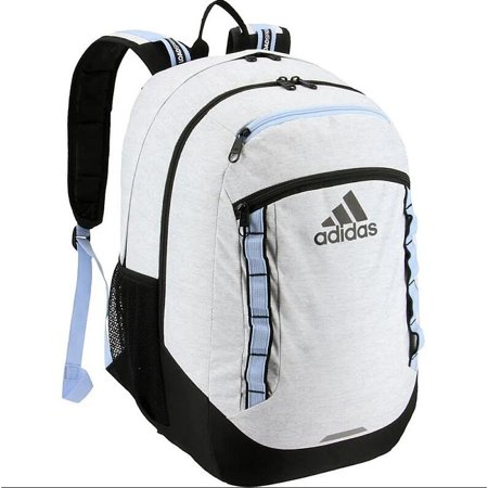 adidas Excel Backpack, Jersey White/Glow Blue, One (Adidas Compression Backpack)