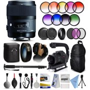 """Sigma 35mm F1.4 DG HSM Art Lens for Nikon (340306) + 12 Piece Filter Set + 10x Macro Diopter + Action Handle + Backpack + 67"""" Monopod + Cleaning Kit + Dust Blower + More"""