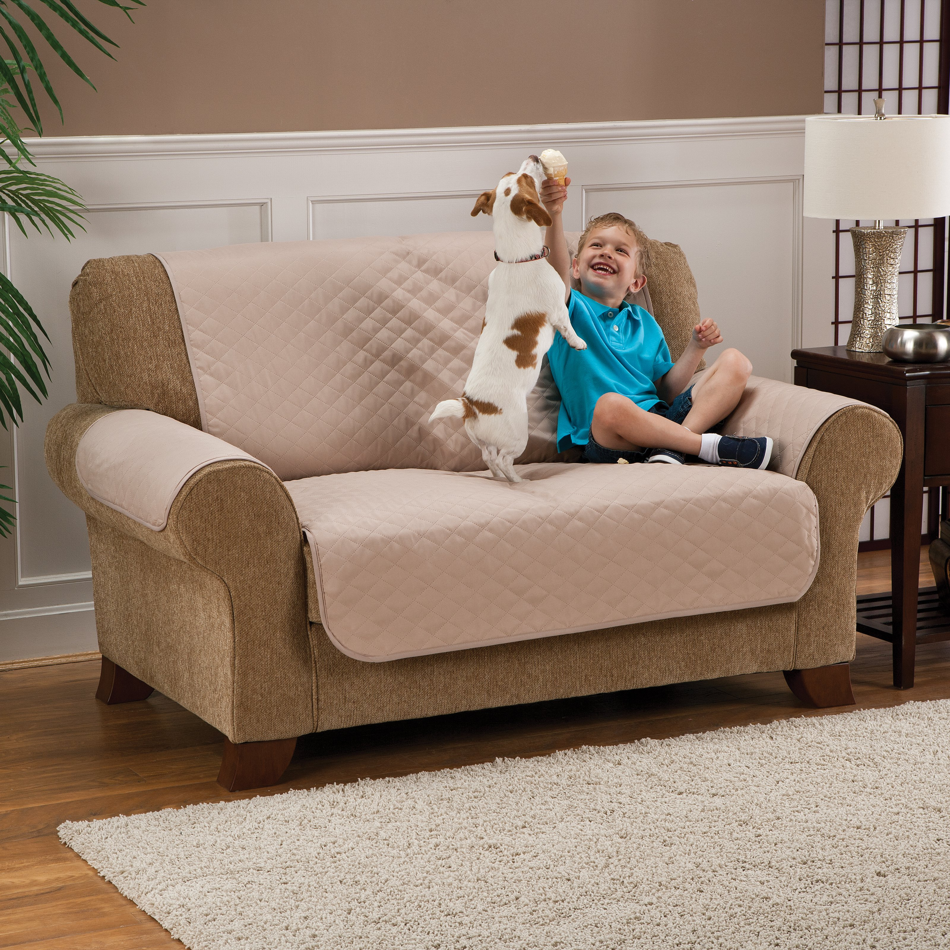 NFL Recliner Reversible Furniture Protector with Elastic Straps