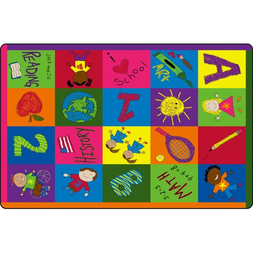 Flagship Carpets Primary Pictures Kids Rug