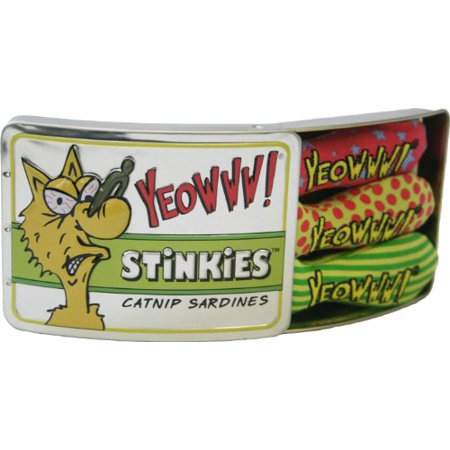 Yeowww! Tin of Stinkies Catnip Sardines, 3-Pack